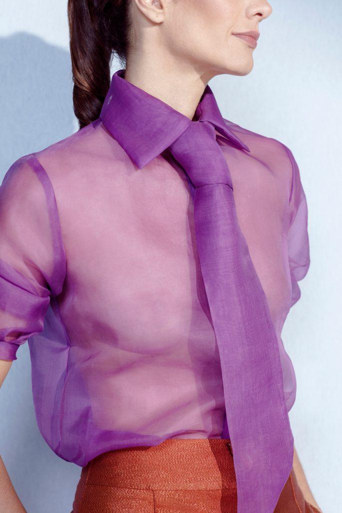 matsustudio-Camisa organza de seda