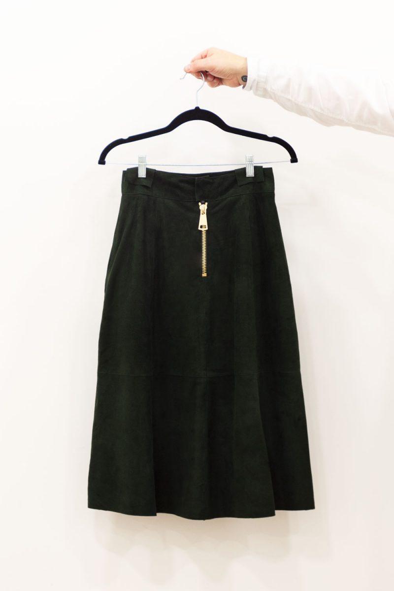 falda piel midi MATSU