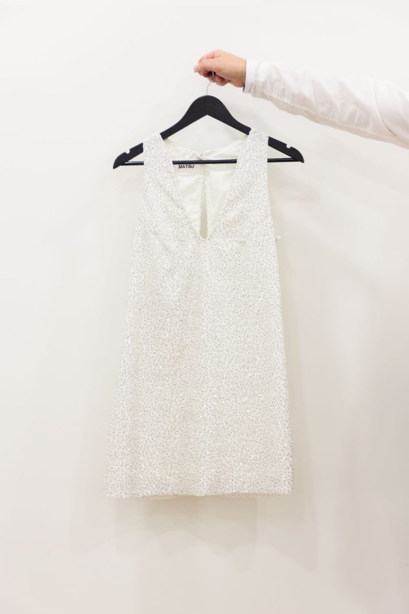 vestido mini blanco