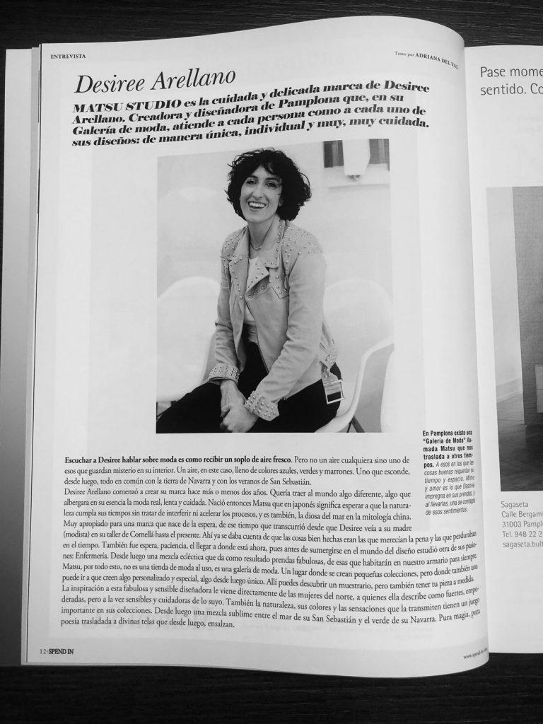 """Imagen de Entrevista """"Spend in"""" a nuestra diseñadora Desirée Arellano en Matsustudio.es"""